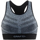 Craft W's Comfort Mid Impact Bra Black Melange